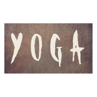 Yoga & Mediation Bold Text Vintage Grunge Texture Business Card