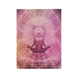 Yoga Mediation Wood Poster