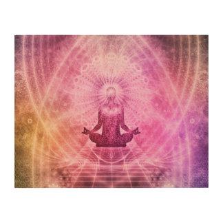Yoga Mediation Wood Wall Art