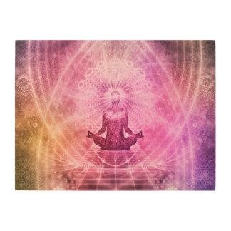 Yoga Mediation Wood Wall Decor