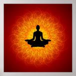 Yoga - meditación en mandala impresiones