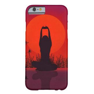Yoga, meditación, moda, aptitud funda de iPhone 6 barely there