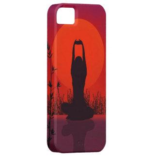Yoga, meditación, moda, aptitud iPhone 5 Case-Mate cárcasa