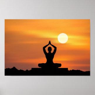 Yoga - meditación póster