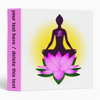 Yoga meditation 3 ring binder