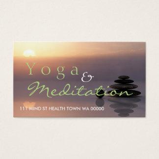 YOGA Meditation Balance Instructor Health Spirit Business Card