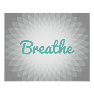 "Yoga & Meditation ""Breathe"" Spirit Poster"