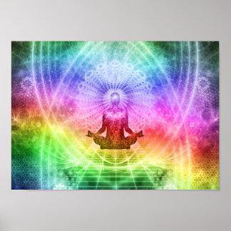 Yoga Meditation Buddhist Nirvana Inspirational Poster