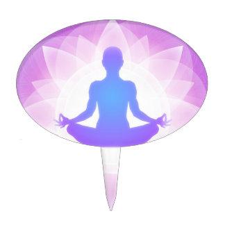 Yoga Meditation Cake Topper