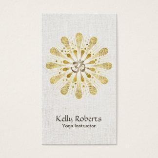 Yoga & Meditation Gold Om Sign Lotus Mandala Business Card