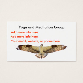 Yoga meditation hawk osprey Business Cards