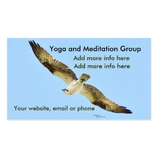 Yoga meditation hawk osprey Business Cards