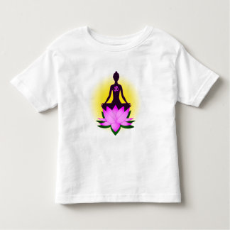 Yoga meditation in pink lotus flower toddler shirt