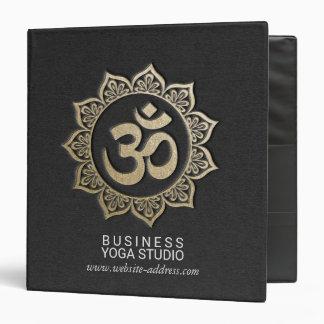 YOGA Meditation Instructor Black & Gold OM Mandala Binder
