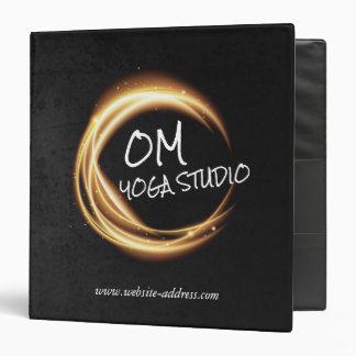 Yoga Meditation Instructor Black & Gold ZEN Symbol Binder