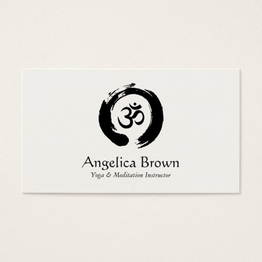 Yoga & Meditation Instructor Business Card