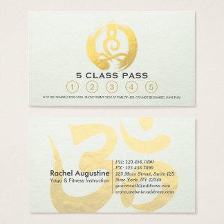 Yoga Meditation Instructor Class Pass Loyalty Card