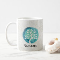 Meditation Namaste Positive Zen Mug Inspirational Yoga Coffee Cup Mandala