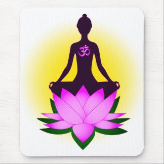 Yoga meditation mouse pad