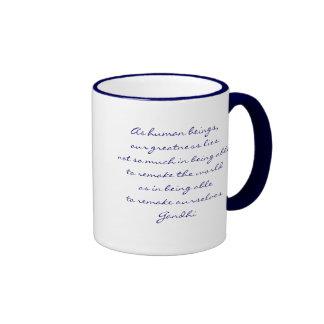 Yoga Meditation Ringer Coffee Mug