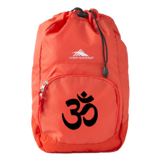 Yoga, meditation, Om mantra ... Backpack