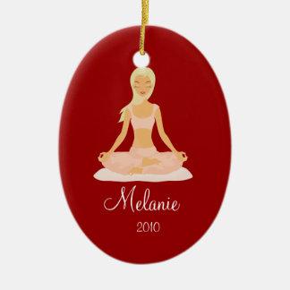 YOGA MEDITATION Personalized Christmas Ornament