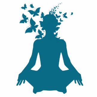 yoga meditation positive energy  peace of mind cutout