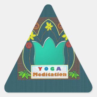YOGA Meditation Script ART Mandala ShowCase GIFTS Triangle Sticker