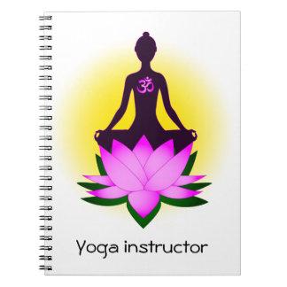 Yoga meditation spiral notebook