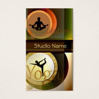 Yoga Meditation studio buisness card