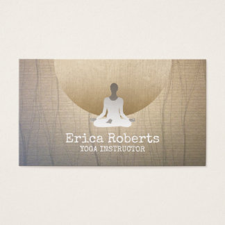 Yoga & Meditation Teacher Health & Wellness Business Card