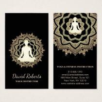 Yoga Meditation Teacher Instructor Lotus Mandala Business Card
