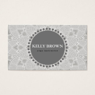 Yoga Meditation Teacher Instructor Mandala Teal Business Card