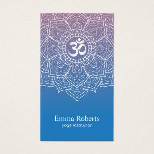 Yoga teacher business cards templates zazzle yoga meditation teacher mandala namaste om sign business card colourmoves