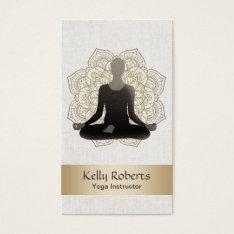 Yoga & Meditation Teacher Vintage Lotus Mandala Business Card at Zazzle