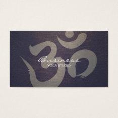 Yoga & Meditation Vintage Purple Om Sign Business Card at Zazzle