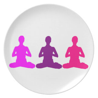 Yoga Melamine Plate