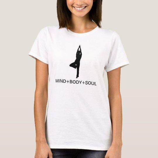 yoga, MIND+BODY+SOUL T-Shirt