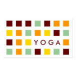 YOGA (mod squares) Double-Sided Standard Business Cards (Pack Of 100)