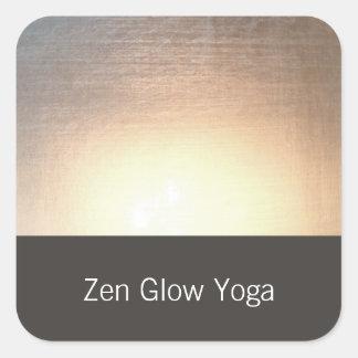 Yoga moderna del resplandor del zen y artes pegatina cuadrada