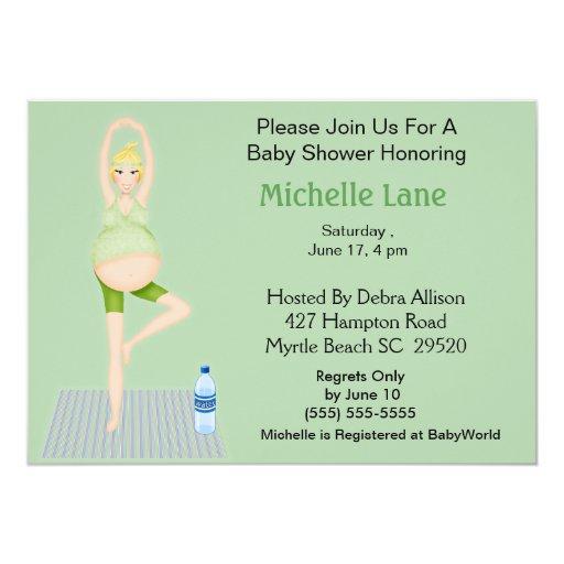 Yoga Mom Baby Shower  Invitation