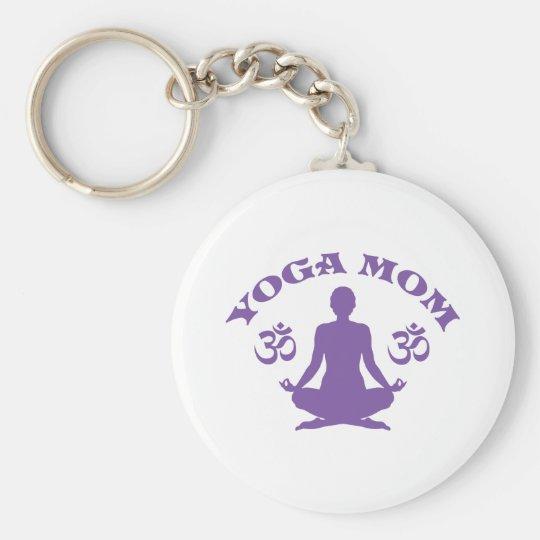 Yoga Mom Keychain