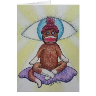 Yoga Monkey Card