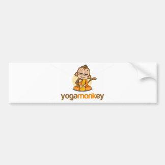 YOGA MONKEY - MONKEY SEE MONKEY DO ! BUMPER STICKER