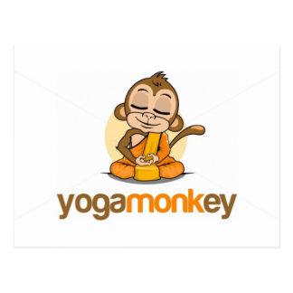 YOGA MONKEY - MONKEY SEE MONKEY DO ! POSTCARD