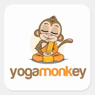 YOGA MONKEY - MONKEY SEE MONKEY DO ! SQUARE STICKER