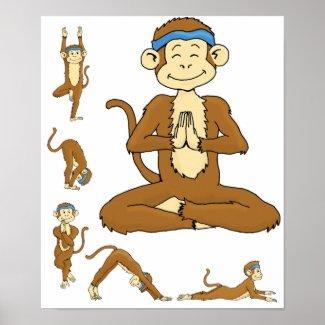 Yoga Monkey print