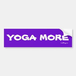 YOGA  MORE Bumper Sticker