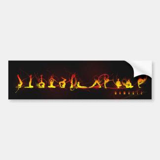 Yoga move bumper stickers