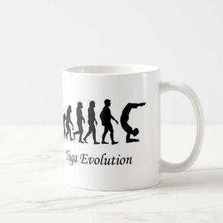 """Yoga mug """"Yoga Evolution"""" humor"""